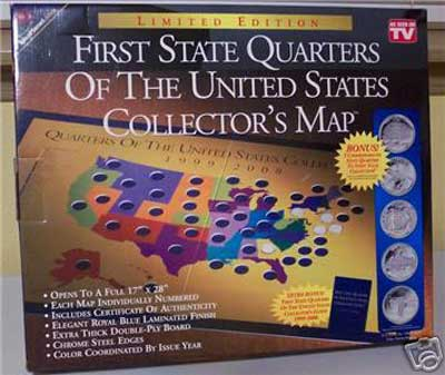As Seen On TV Products-First State Quarters Collectors Map